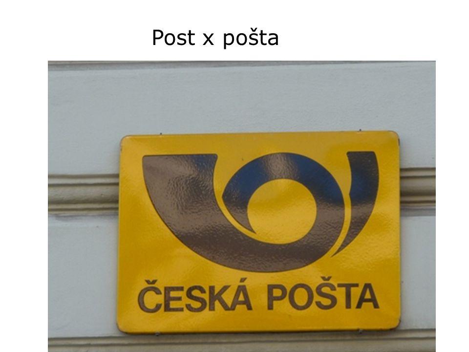 Post x pošta