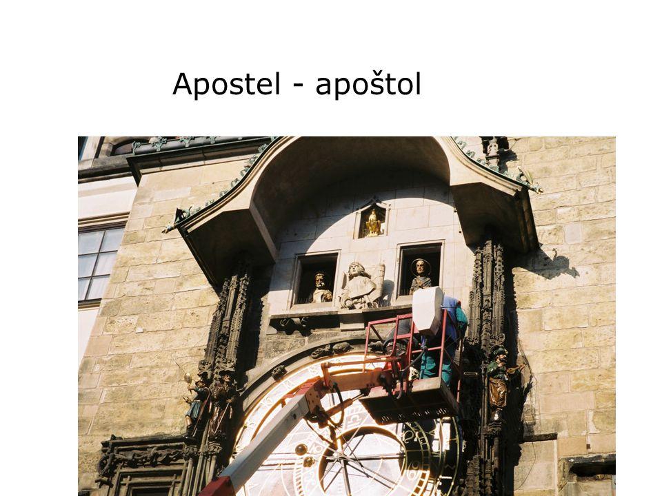 Apostel - apoštol