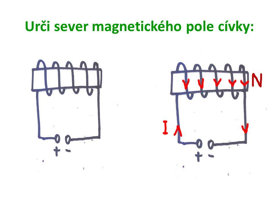 Urči sever magnetického pole cívky: