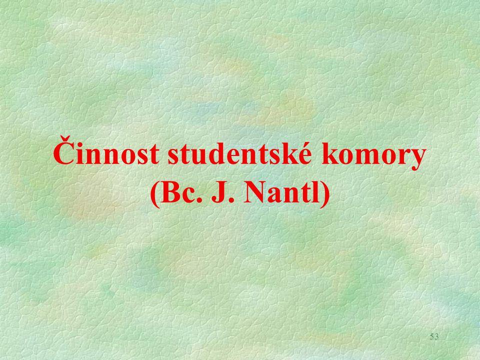 53 Činnost studentské komory (Bc. J. Nantl)