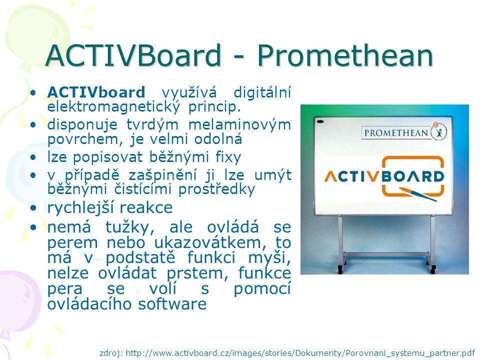 ACTIVBoard - Promethean ACTIVboard využívá digitální elektromagnetický princip.