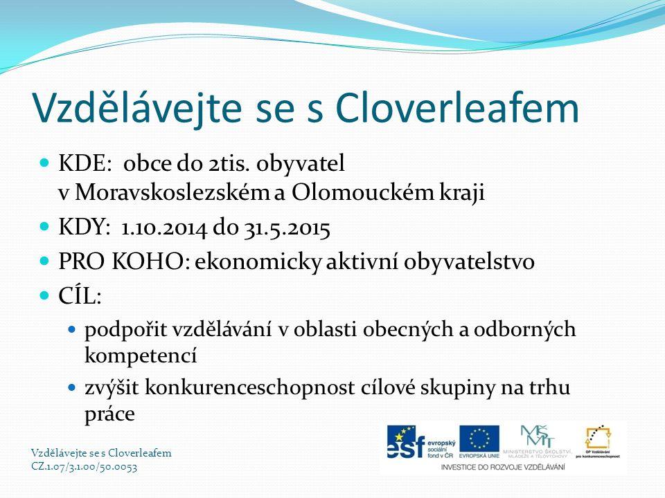Vzdělávejte se s Cloverleafem KDE: obce do 2tis.
