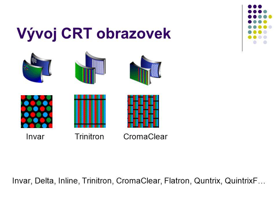 Vývoj CRT obrazovek Invar, Delta, Inline, Trinitron, CromaClear, Flatron, Quntrix, QuintrixF… InvarTrinitronCromaClear