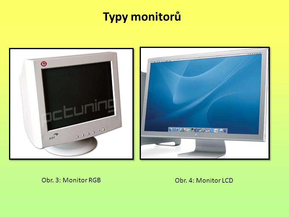Obr. 3: Monitor RGB Obr. 4: Monitor LCD