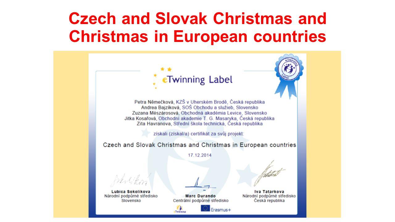 Obsah projektu: studenti se seznámili s tradicemi oslav Vánoc v různých evropských zemích a porovnali je studenti uskutečnili průzkum v daných zemích, které tradice a zvyky udržují, především co se týká vánoční večeře a aktivit ve vánočních dnech
