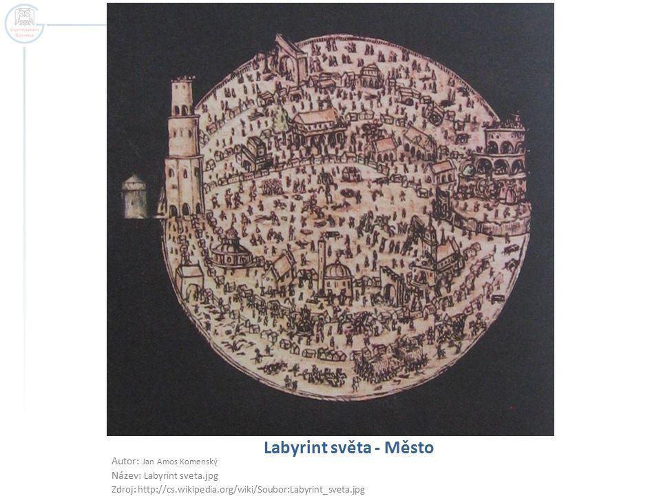 Labyrint světa - Město Autor: Jan Amos Komenský Název: Labyrint sveta.jpg Zdroj: http://cs.wikipedia.org/wiki/Soubor:Labyrint_sveta.jpg