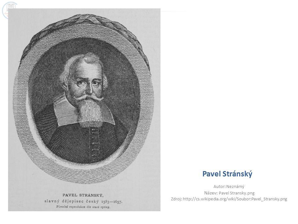 Pavel Stránský Autor: Neznámý Název: Pavel Stransky.png Zdroj: http://cs.wikipedia.org/wiki/Soubor:Pavel_Stransky.png