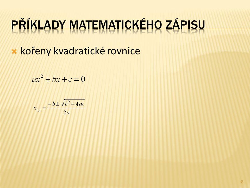  kořeny kvadratické rovnice 6