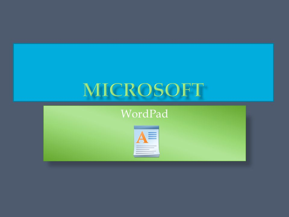  O programu MS (Microsoft) WordPad  Spouštění programu MS WordPad  Popis základních funkcí programu MS WordPad 1.