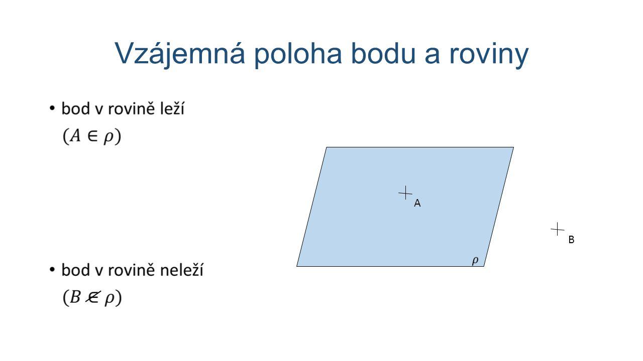 Vzájemná poloha dvou přímek p = q r p q s