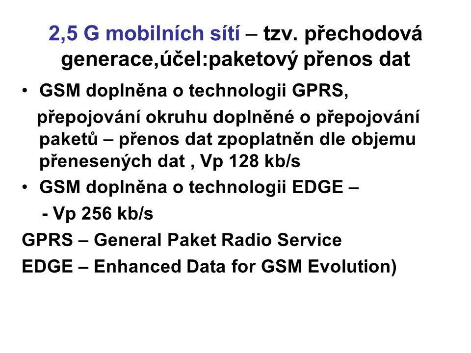 2,5 G mobilních sítí – tzv.