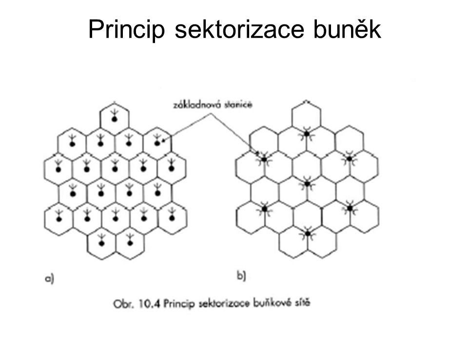 Princip sektorizace buněk