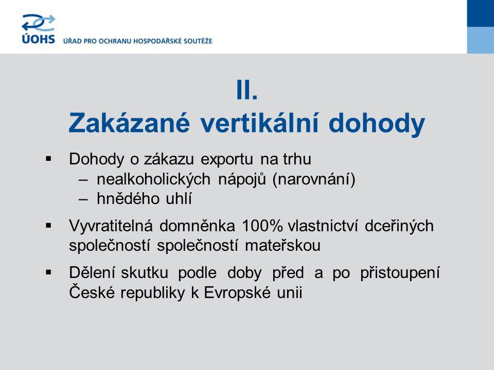 Nová právní úprava Komunitární úroveň - blokové výjimky:  Obecné vertikální dohody – Nařízení Komise č.
