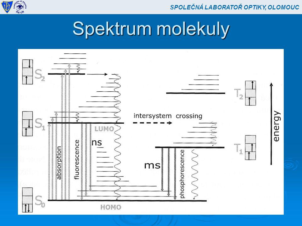 Spektrum molekuly SPOLEČNÁ LABORATOŘ OPTIKY, OLOMOUC