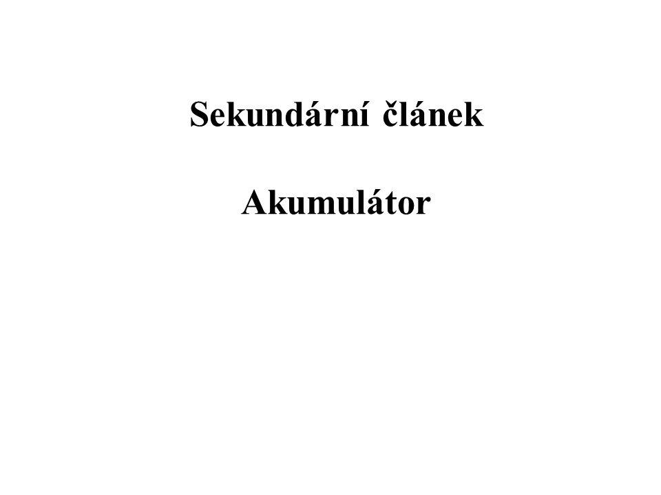 Sekundární článek Akumulátor