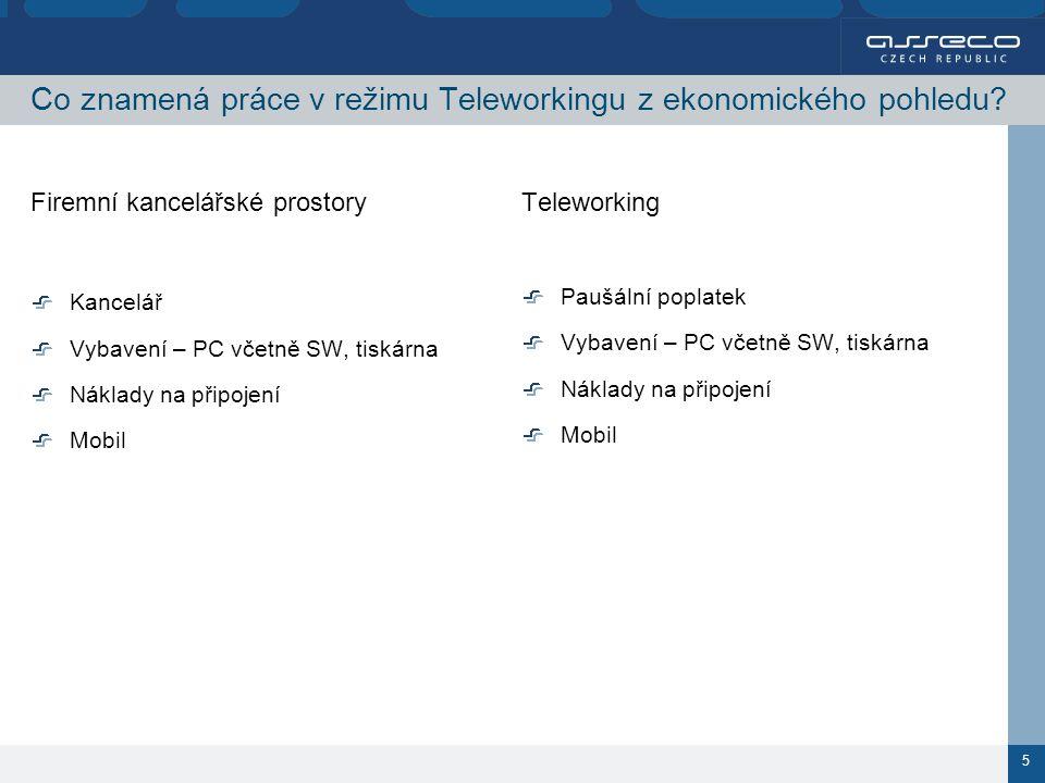 5 Co znamená práce v režimu Teleworkingu z ekonomického pohledu.