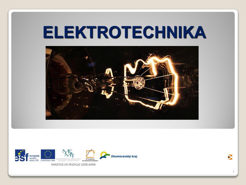3 Elektrotechnika je obor lidské činnosti zabývající se praktickým využitím elektrické energie, jedná se o specializovaný technický vědní obor, který se zabývá výrobou, rozvodem a přeměnou elektrické energie v jiné druhy energie, konstrukcí sdělovacích, zabezpečovacích, výpočetních a jiných elektrických zařízení.