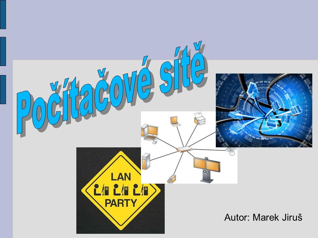 Spojení dvou a více počítačů za účelem sdílení prostředků Potřebný síťový hardware nebo software Skrze síť lze sdílet: Data a zprávy Grafiku Tiskárny a faxové přístroje Modemy Další hardwarové zdroje Co je to počítačová síť