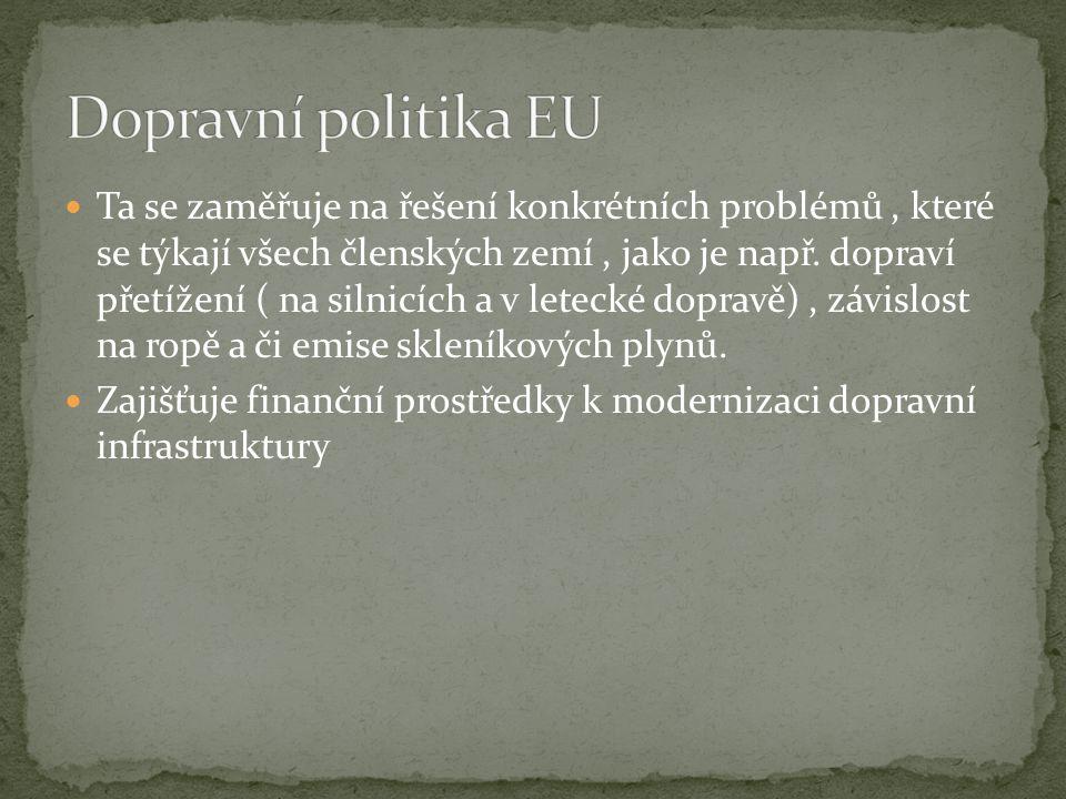 Ta se zaměřuje na řešení konkrétních problémů, které se týkají všech členských zemí, jako je např.