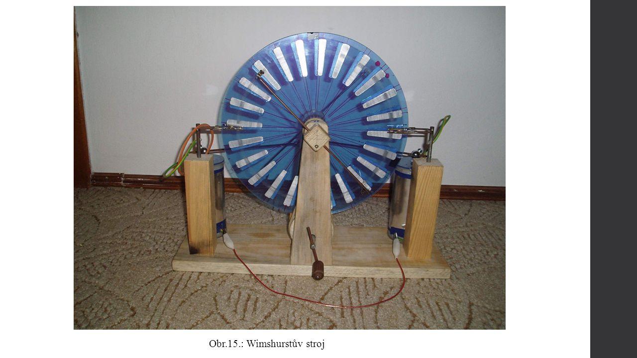 Obr.15.: Wimshurstův stroj