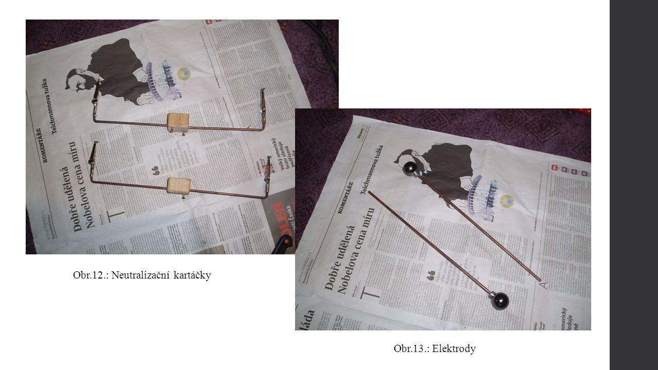 Obr.13.: Elektrody Obr.12.: Neutralizační kartáčky