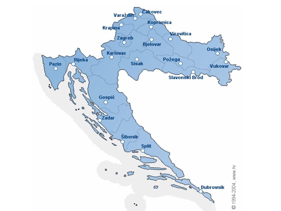 Podnebí - v severním Chorvatsku je vnitrozemské klima, ve středním smíšené a horské a podél jadranského pobřeží je středozemní
