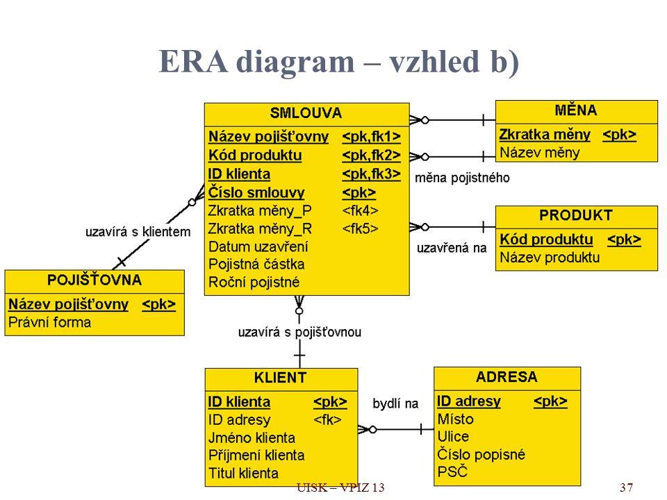 ERA diagram – vzhled b) 37UISK – VPIZ 13