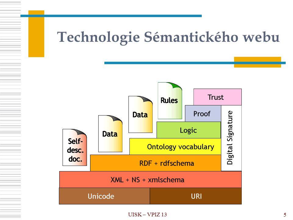 Technologie Sémantického webu UISK – VPIZ 13 5