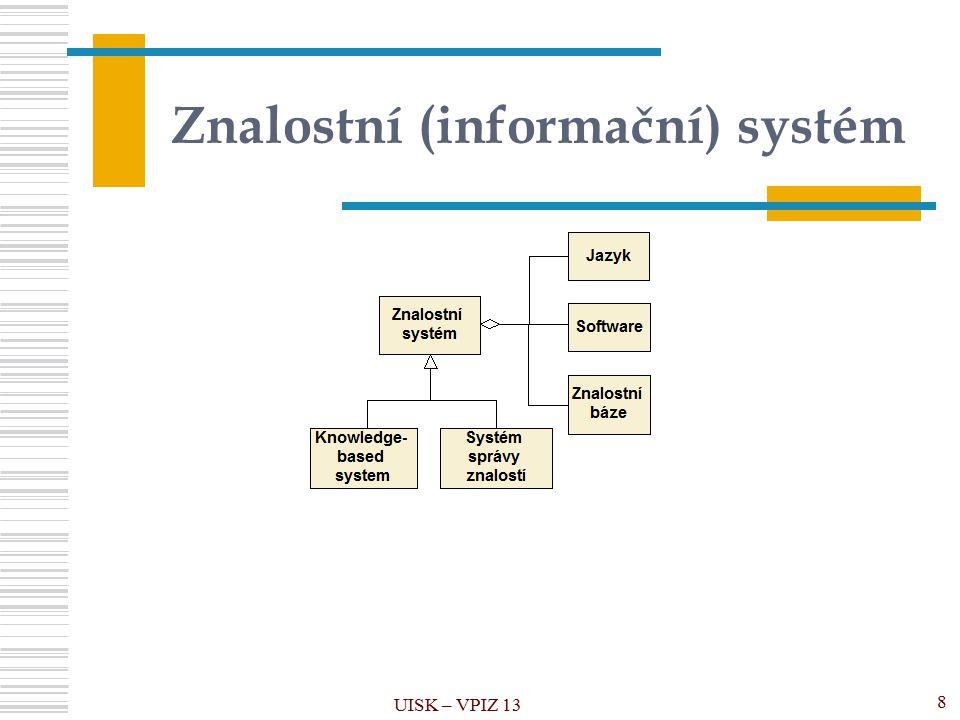 Znalostní (informační) systém UISK – VPIZ 13 8