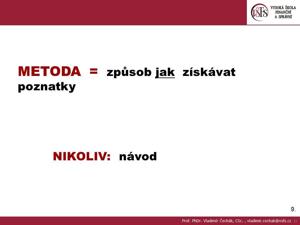 90. AXIOMATIZACE Prof. PhDr. Vladimír Čechák, CSc., vladimir.cechak@vsfs.cz ::0