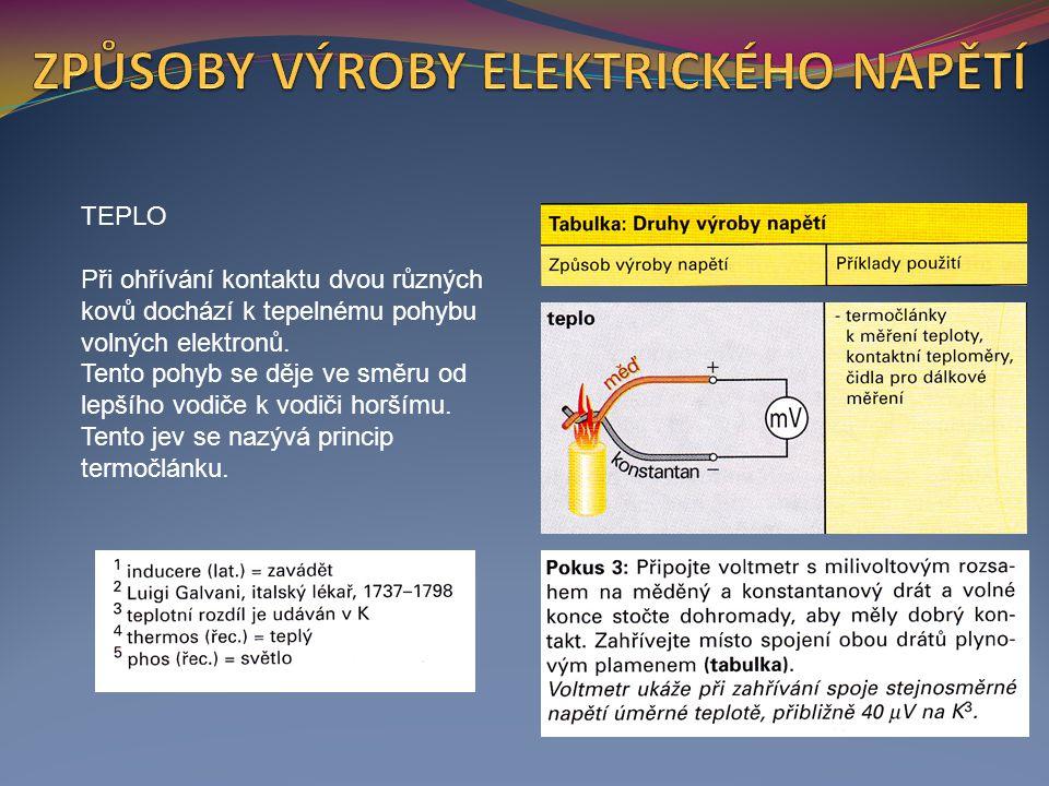 SVĚTLO Ve fotočlánku vznikají při osvětlení v tenké křemíkové destičce volné elektrony.