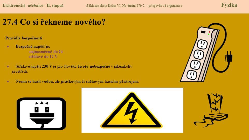 27.4 Co si řekneme nového. Elektronická učebnice - II.