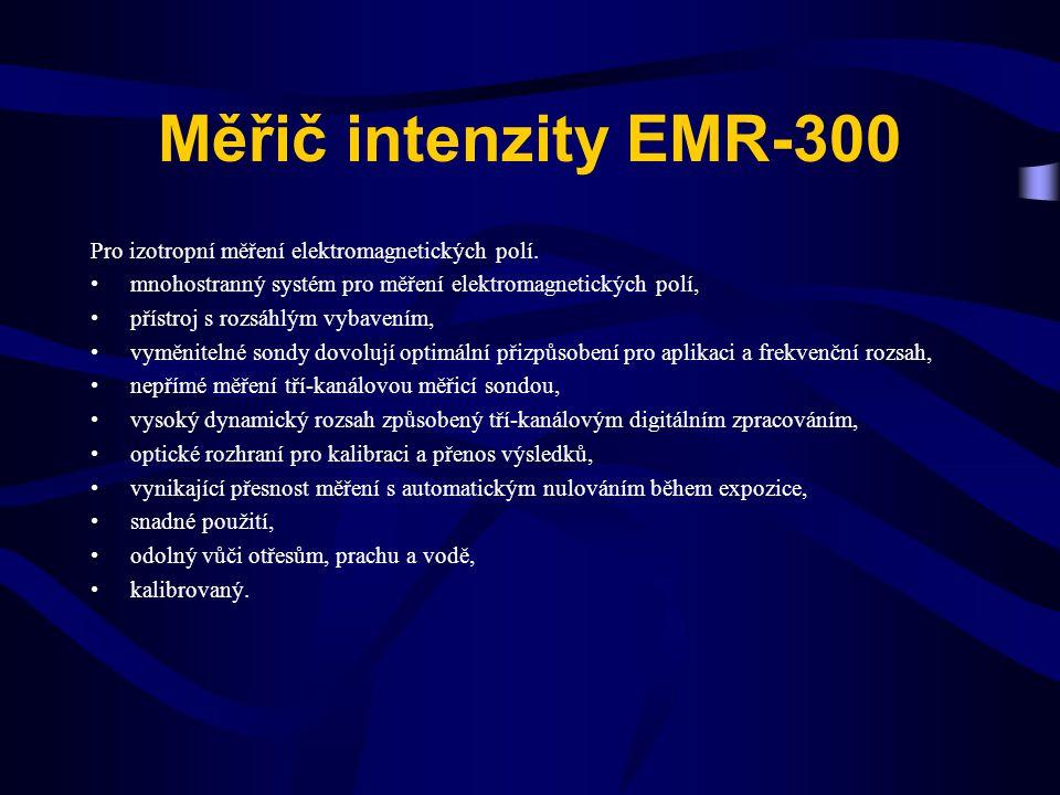 Měřič intenzity EMR-300 Pro izotropní měření elektromagnetických polí. mnohostranný systém pro měření elektromagnetických polí, přístroj s rozsáhlým v