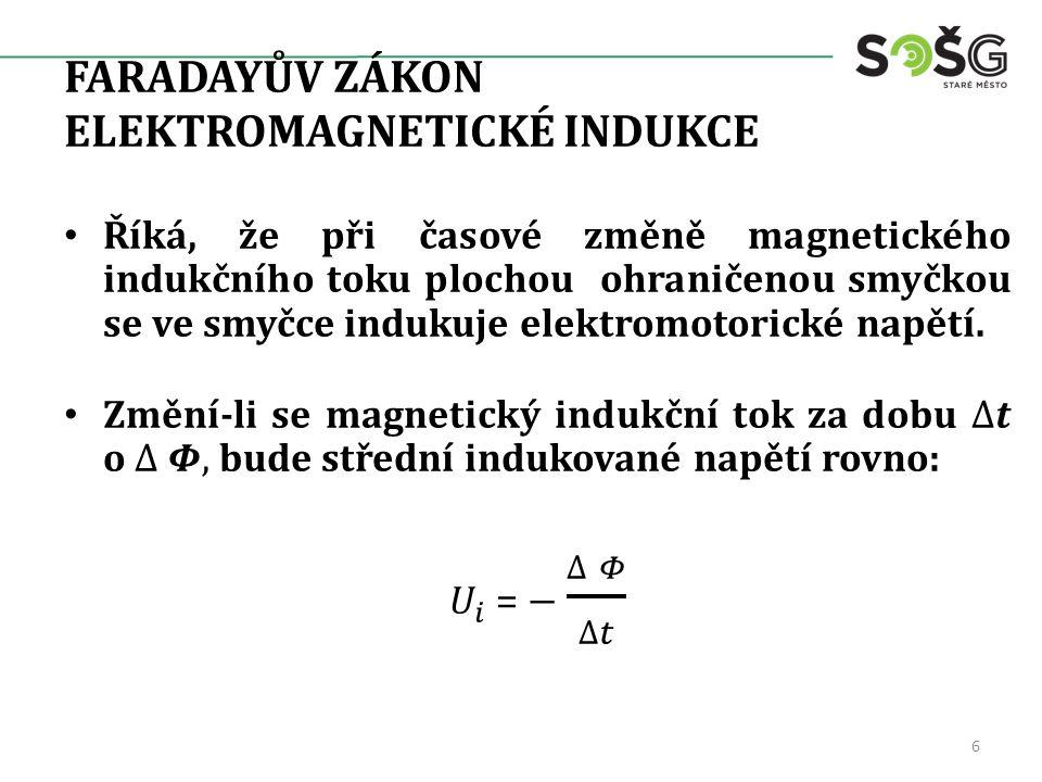 FARADAYŮV ZÁKON ELEKTROMAGNETICKÉ INDUKCE 6