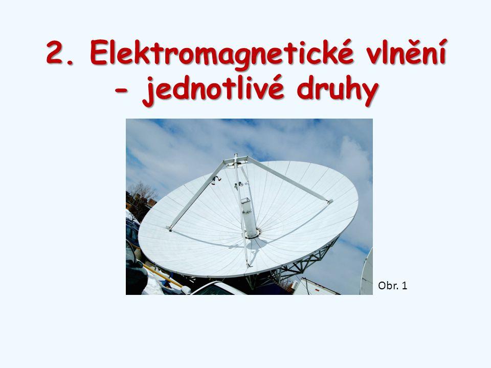2. Elektromagnetické vlnění - jednotlivé druhy Obr. 1