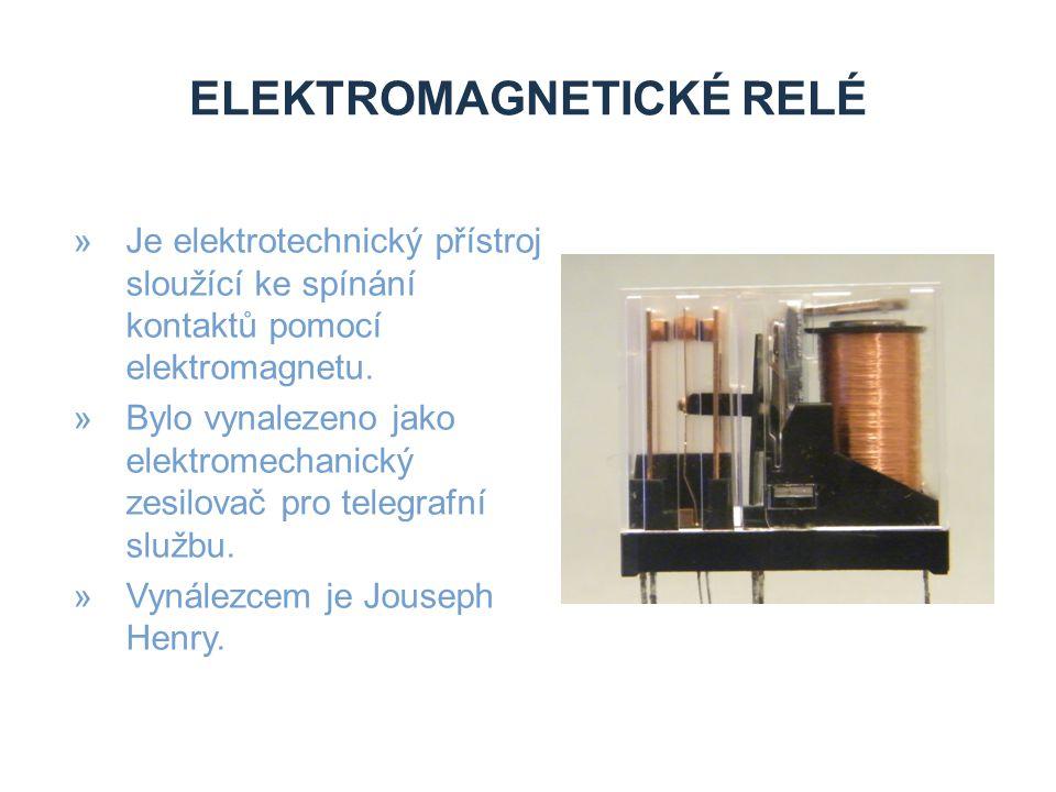 ELEKTROMAGNETICKÉ RELÉ »Protéká-li cívkou elektrický proud vytváří magnetický indukční tok.