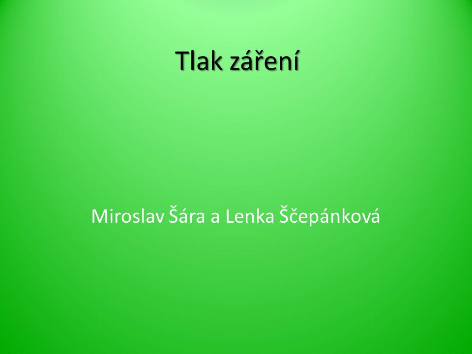 Tlak záření Miroslav Šára a Lenka Ščepánková