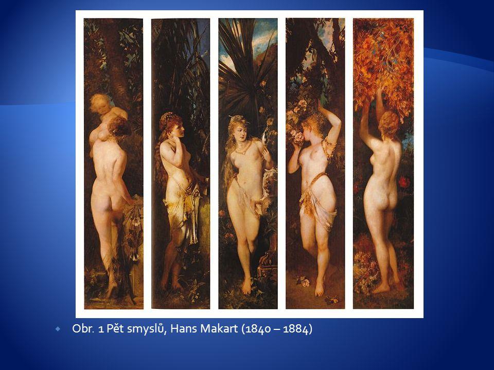  Obr. 1 Pět smyslů, Hans Makart (1840 – 1884)