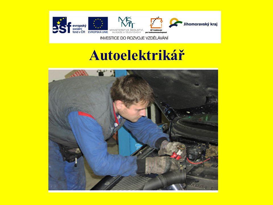 Stručný popis typové pozice Autoelektrikář je kvalifikovaný pracovník, který provádí diagnostiku, opravy a seřizování elektrických a elektronických systémů automobilů.
