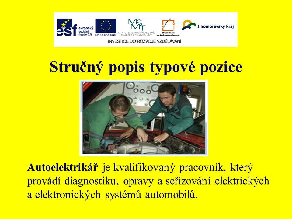 Alternativní názvy Autoelectrician Automobile electronic Elektromechanik dopravních prostředků