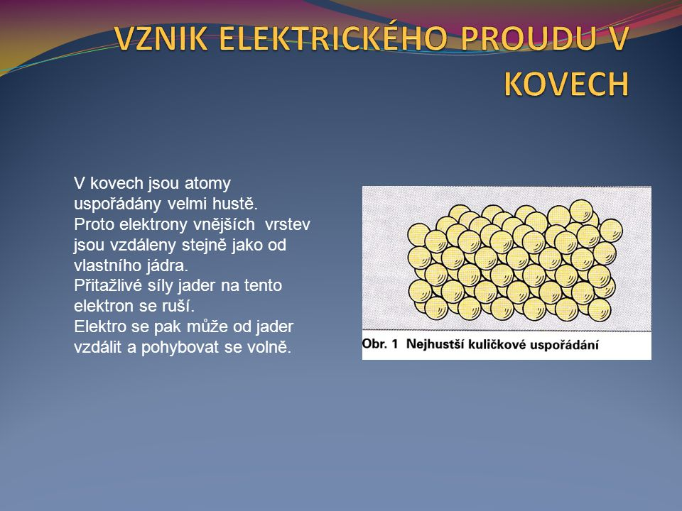 V kovech jsou atomy uspořádány velmi hustě.