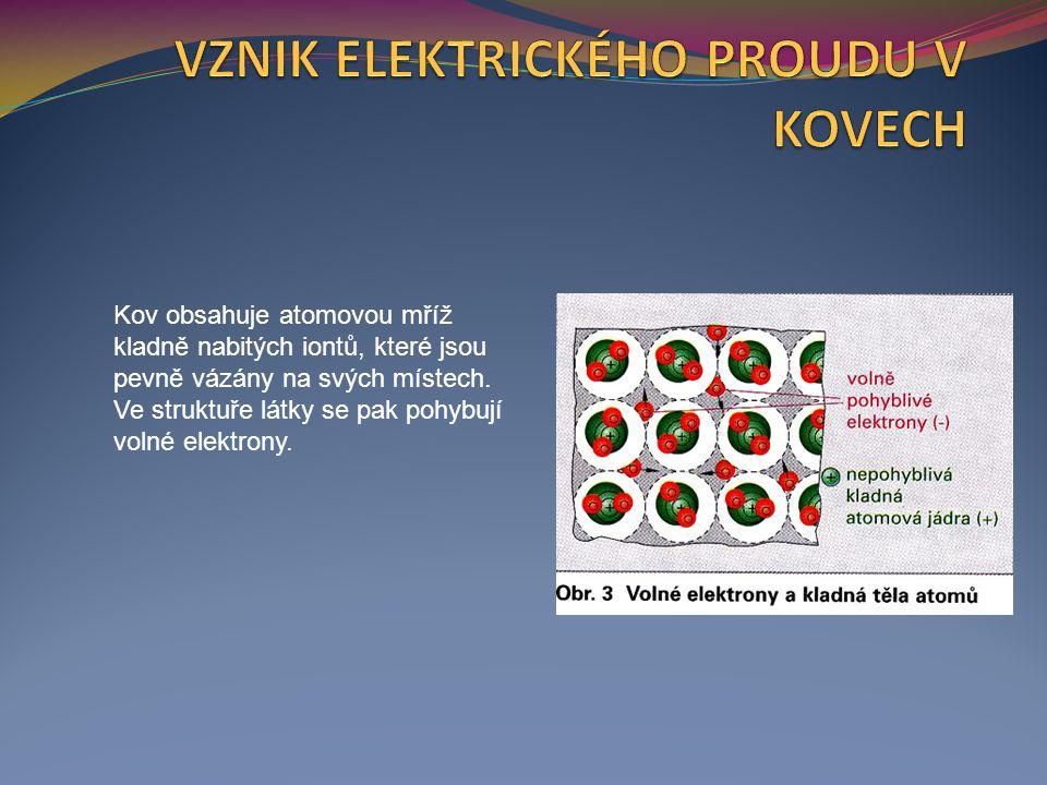 Elektrony se v atomové struktuře pohybují při usměrněném toku rychlostí několika mm za sekundu.