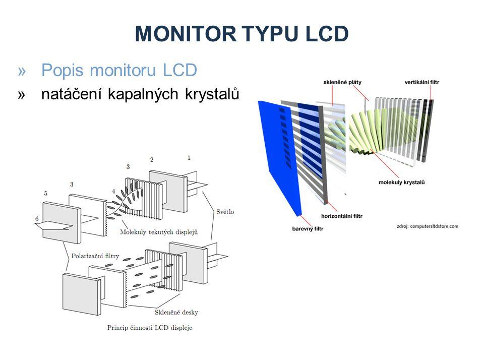 MONITOR TYPU LCD »Popis monitoru LCD »natáčení kapalných krystalů