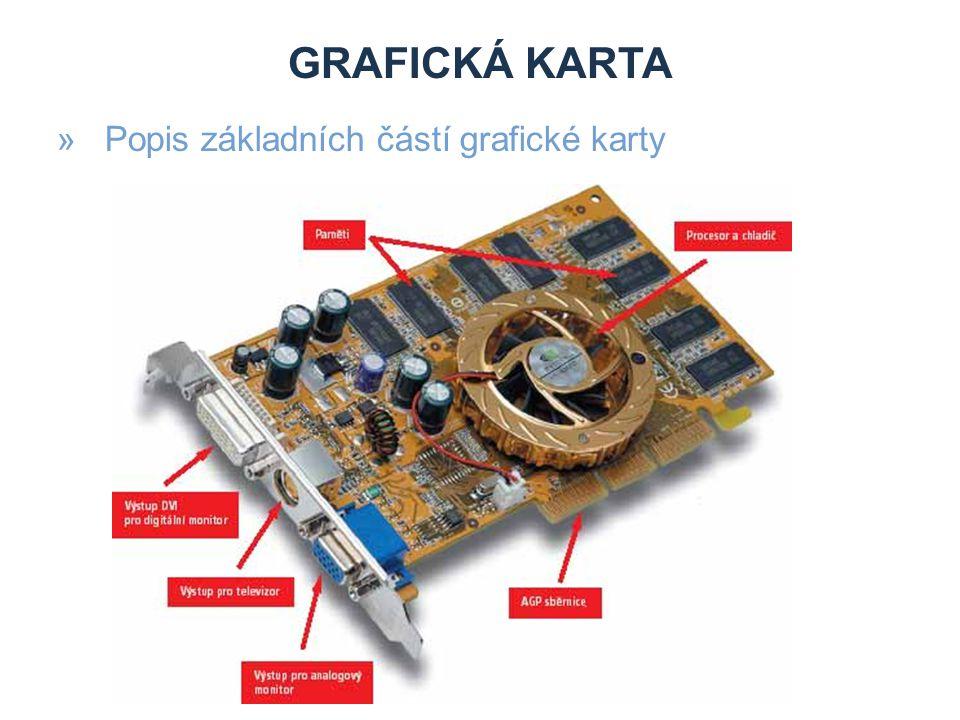 GRAFICKÁ KARTA »Popis základních částí grafické karty