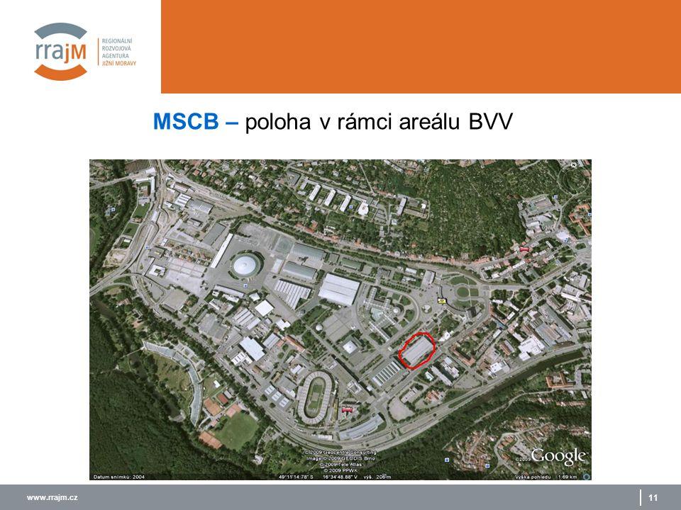 www.rrajm.cz 11 MSCB – poloha v rámci areálu BVV