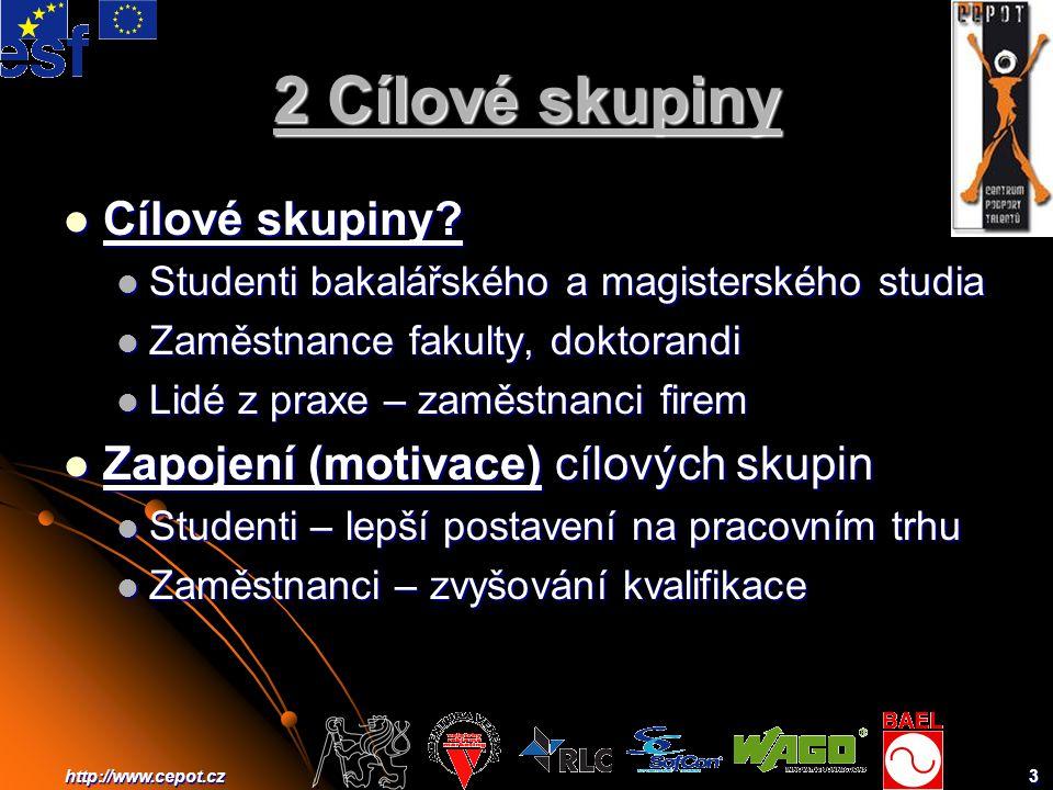 3http://www.cepot.cz 2 Cílové skupiny Cílové skupiny.