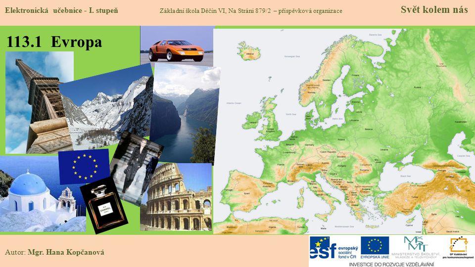 113.1 Evropa Elektronická učebnice - I.
