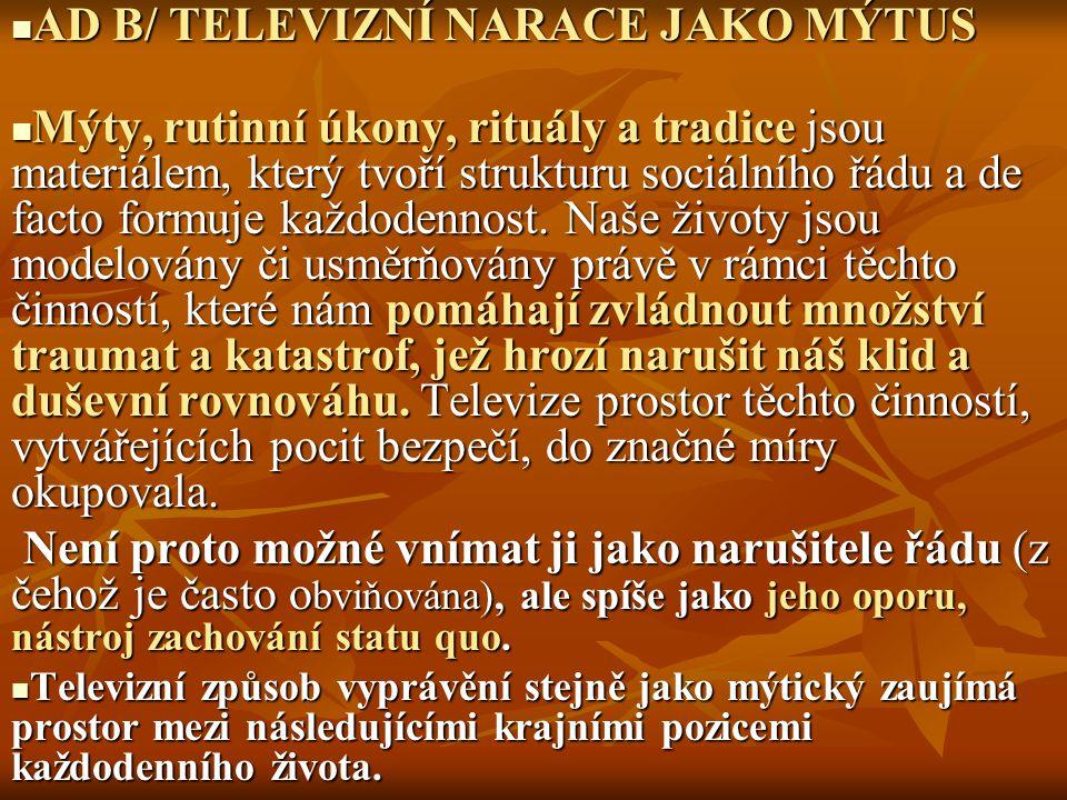 """""""SERIÁL JAKO PARADIGMATICKÝ TELEVIZNÍ ŽÁNR ČESKÝ SERIÁL (1959- poč."""
