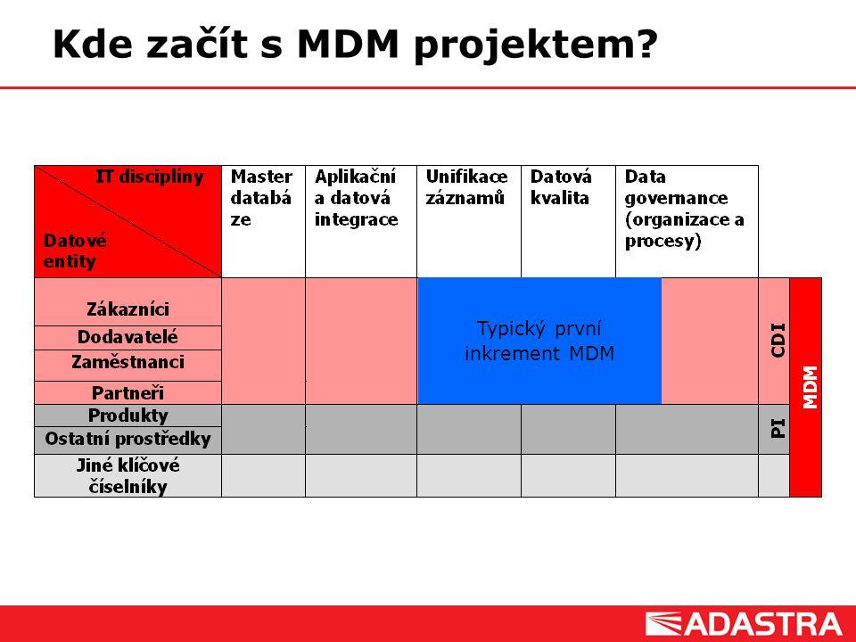 Customer Intelligence Solutions Kde začít s MDM projektem? Typický první inkrement MDM