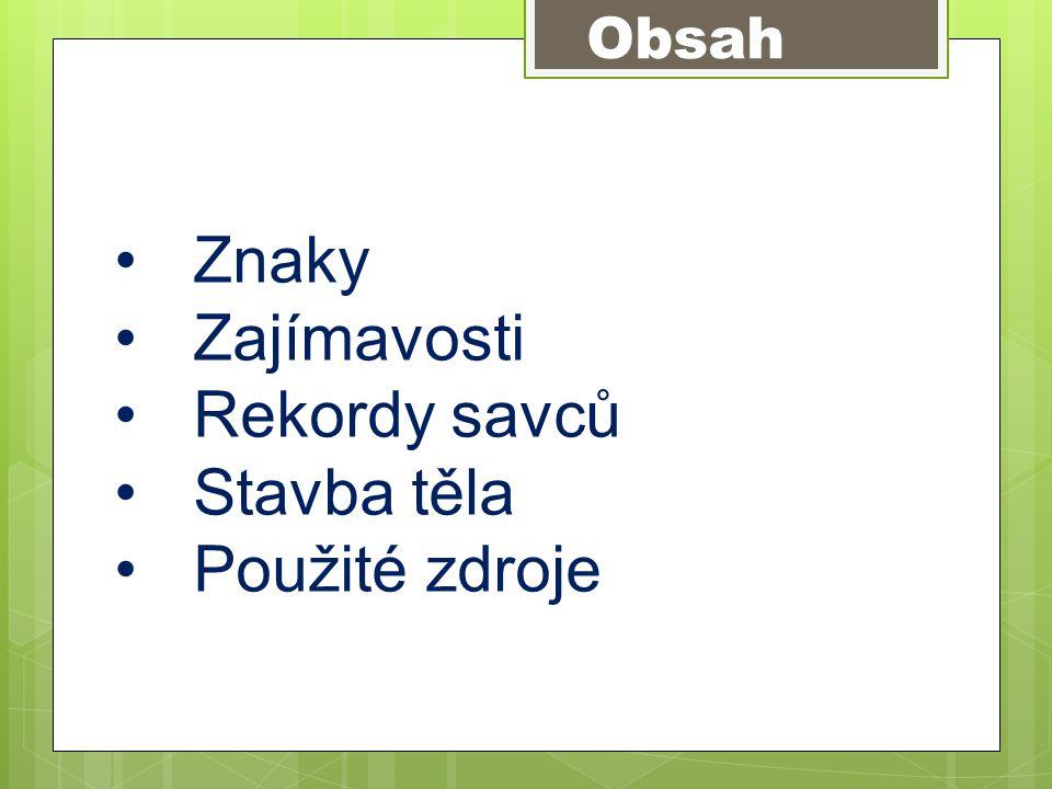 Savci Autor : Mgr. Karin Cahlíková VY III/2_Inovace_06_ Savci